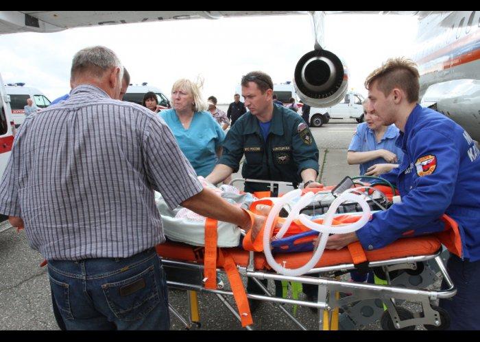 В Москву из Крыма санавиацией доставлено четыре пациента