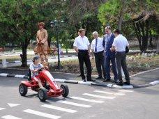 Дорожное движение, В Симферополе реконструировали детский городок безопасности дорожного движения