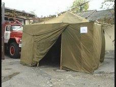пункт обогрева, В Феодосии установили палатки обогрева