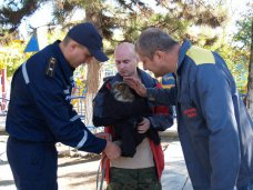 В Ялте сотрудники МЧС спасли филина