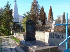 Вандализм, В Алуште осквернена братская могила защитников города