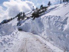 ГАИ закрыла дорогу на плато Ай-Петри