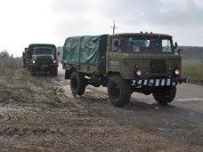 Учения, военкомат, Ялтинский военный санаторий, Батальон ВМС Украины в Бахчисарае провел автомобильный марш