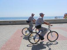 Милиция, На набережной Алушты работает велопатруль