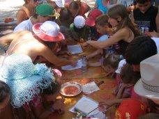 детское творчество, В Феодосии детей учили шумерской клинописи