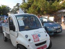 электромобиль, В Алуште прошел парад электромобилей