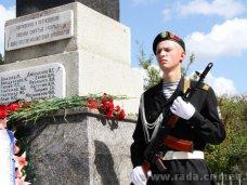 Памятник, Крымский спикер открыл в Симферопольском районе отреставрированный памятник