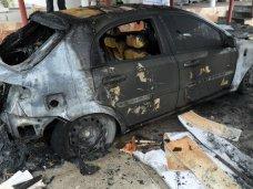 Пожар, В Севастополе сгорело два автомобиля