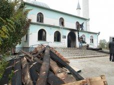 Пожар, Центральную мечеть Сакского района подожгли, – ДУМК