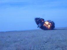 Бомба, В Крыму уничтожили 2 тонны боеприпасов