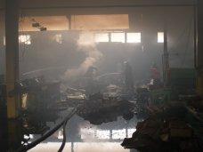 Пожар, В Симферопольском районе горел цех