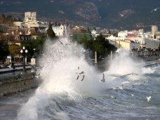 штормовое предупреждение, На ЮБК усиливается ветер