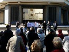 митинг, В Симферополе жильцы общежитий Крыма вышли на митинг