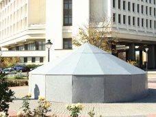 Фонтан, фото дня, Фонтан в симферопольском сквере Республики закрыли на зиму
