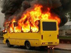 Пожар, На стоянке в Симферополе сгорел автобус