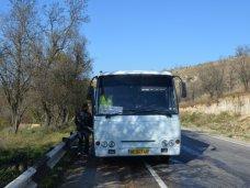 Пожар, В Севастополе во время движения загорелся автобус
