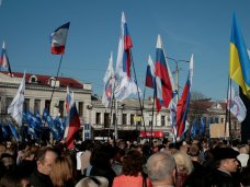 Евроинтеграция, В Симферополе провели митинг в поддержку решения не подписывать соглашение об ассоциации с Евросоюзом