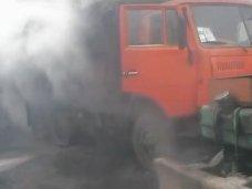 Пожар, Вчера в Ялте горел «КАМАЗ»