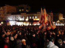 политическая ситуация в Украине, В Симферополе на митинг собралось 10 тыс. человек