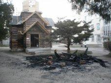Пожар, Часовню в Евпатории подожгли умышленно