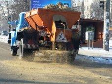 Подготовка к зиме, За сутки на дороги Симферополя высыпали 130 тонн песка и соли