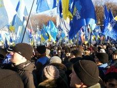 политическая ситуация в Украине, В Киеве наблюдается особое единение участников митинга в поддержку государственного курса