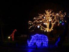 Новый год, Детский парк Симферополя засиял по-новому