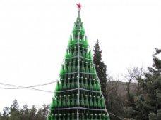 Новый год, В Новом Свете установят елку из бутылок от шампанского