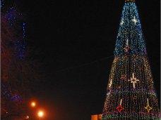 Городская елка, В Феодосии зажгли огни на новогодней елке