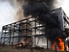 Пожар, В порту возле Севастополя загорелся мазут