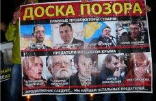 политическая ситуация в Украине, В Крыму появилась доска позора из девяти оппозиционеров