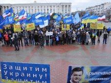 политическая ситуация в Украине, Около 2 тыс. крымчан отправились в Киев поддержать власть