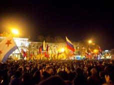 политическая ситуация в Украине, В Севастополе общегородской митинг собрал 5 тыс. человек