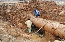 Авария, В Евпатории произошла авария на водоводе