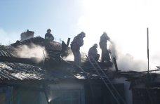 Пожар, На пожаре в Симферопольском районе спасли женщину