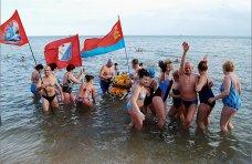 Моржи, В Феодосии прошел первый Всеукраинский заплыв «моржей»