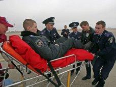 В Симферопольском аэропорту встретили раненых в Киеве правоохранителей