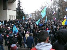 Митингующие у стен парламента Крыма начали расходиться