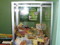 В Симферополе грабитель похитил из магазина коробку с пожертвованиями