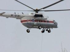 Вертолет МЧС доставил больного ребенка из Симферополя в Краснодар