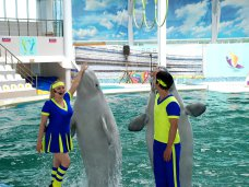 Дельфинарий в Евпатории впервые начал ставить выступления с китами-белухами