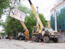 В Алуште демонтируют незаконные торговые объекты и рекламные конструкции