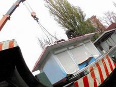 В Саках убрали незаконно установленный торговый павильон