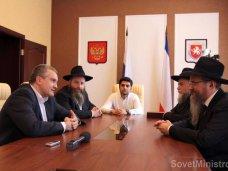 Крымский премьер встретился с главным раввином России
