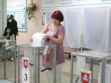 В Крыму проголосовало 45% избирателей