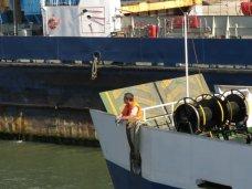 Работа паромов на Керченской переправе затруднена из-за реконструкции причала в порту «Крым»