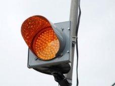 В Евпатории возле школ появились мигающие светофоры