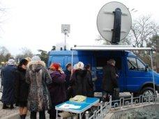 В Евпатории сегодня работала мобильная приемная президента России