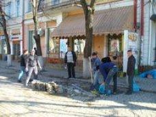 На месте площадки кафе «Пушкин» ведутся ремонтные работы